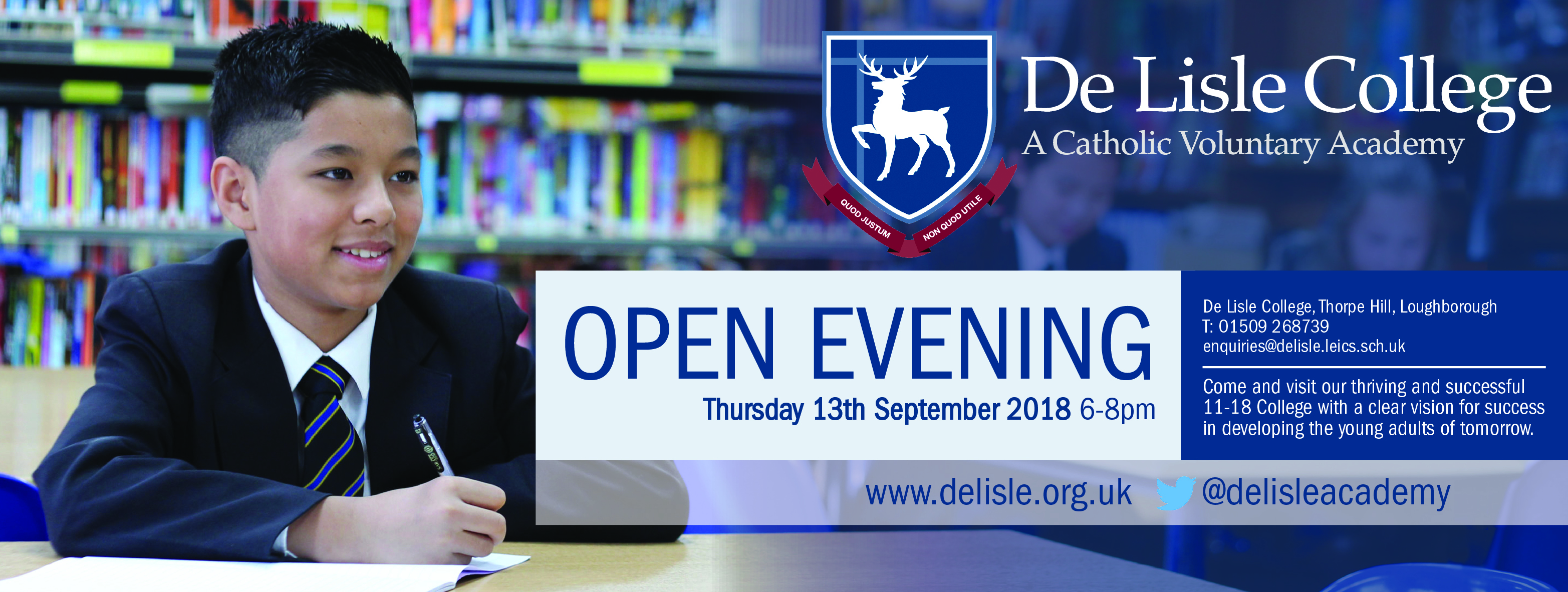 De Lisle College Open Eve Advert 2018