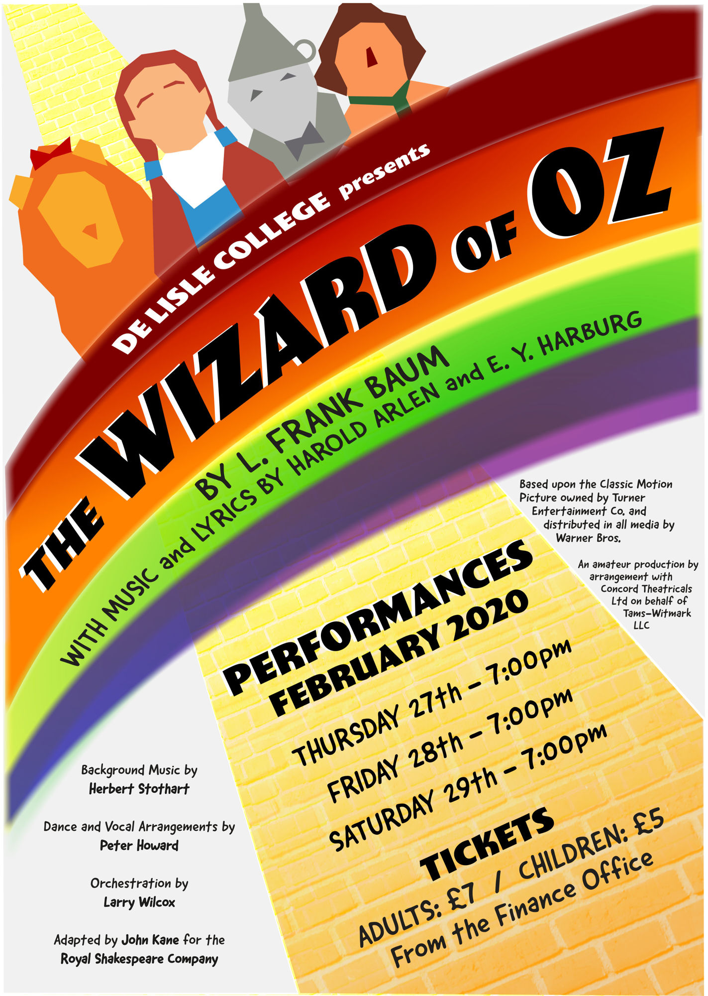 Wizard of Oz   De Lisle College Amended