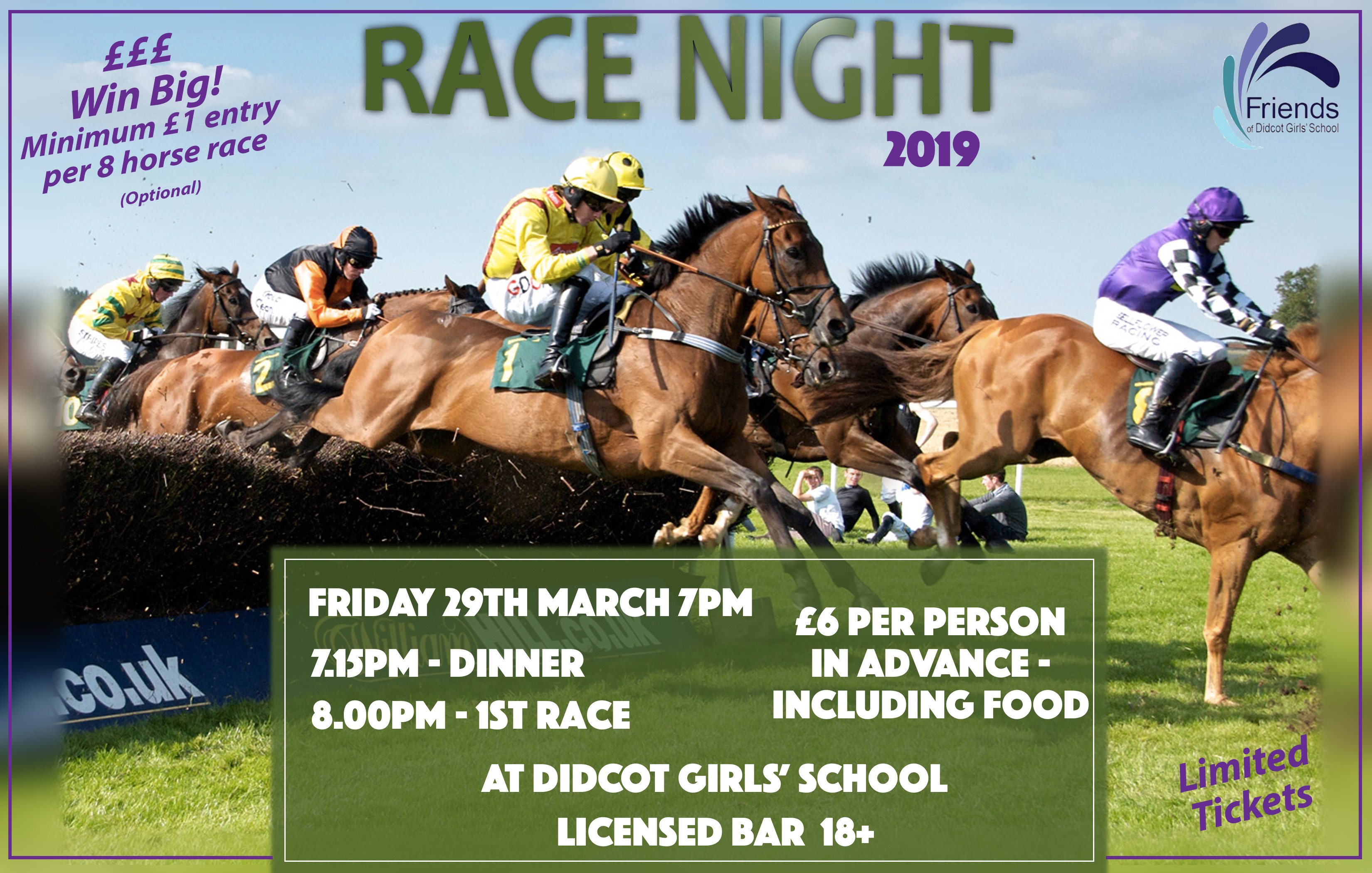 Race Night Poster 2019 a4