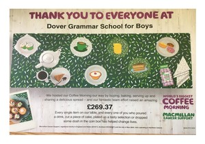 Dgsb macmillan coffee morning