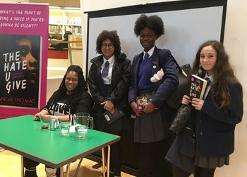 Year 10 Students meet Novelist