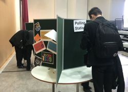 Students go to the polls