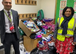 Donations to homeless charity
