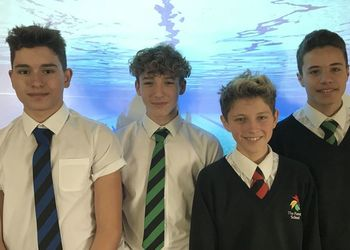 Boys Medley Swimming Team