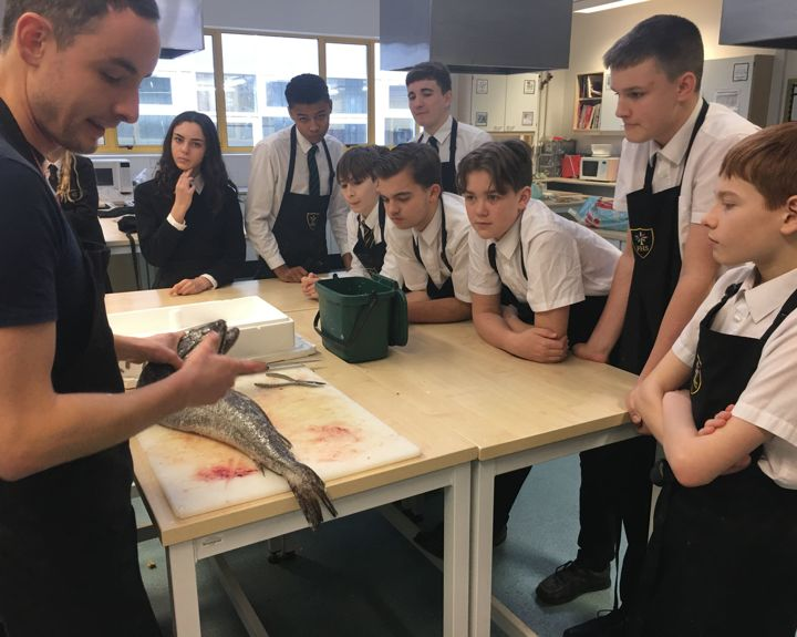 Fishmonger teaches GCSE students