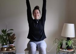 Chair yoga for teachers