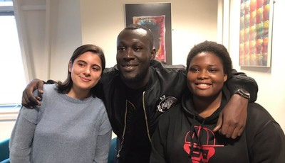 Stormzy joins students for A Level Results Day