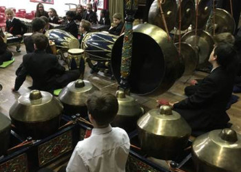 Year 7s get to grips with Gamelan