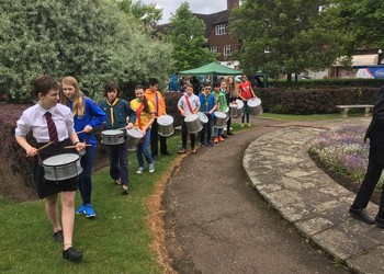 HWS Samba Band snapped at Scout Fair