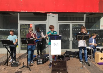 HWS band wows Kingston's town centre Sunday shoppers