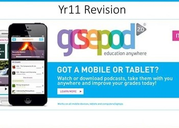 GCSE Pod - Yr11 Revision Support