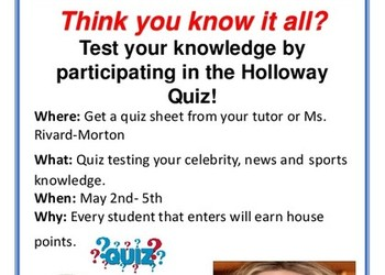 Belle House Quiz : 2nd- 5th May