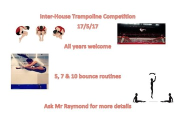 Irvin House Trampoline Competition : Weds 17th May