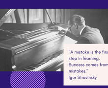A mistake is the first step in learning. Success comes from mistakes.