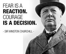 Fear is a reaction
