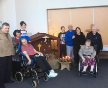 Stocks Hall Care Home residents visit Hope Academy