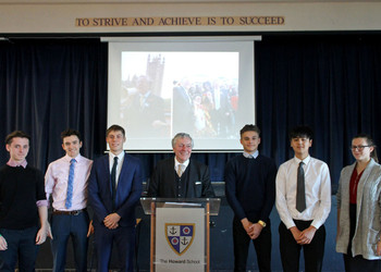 Peers In School Visit from Lord Clement-Jones