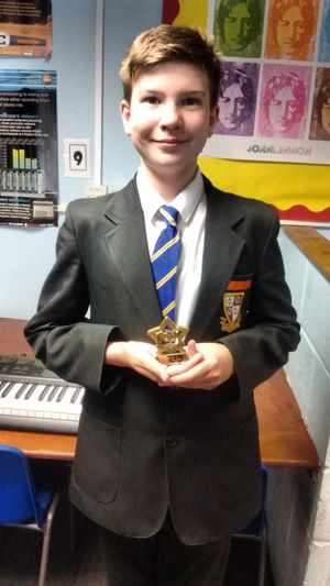 Outstanding progress on musical instrument 2017 george thurston yr 7