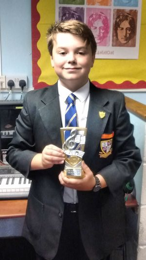 Young performer of the year thomas fullagar yr 7