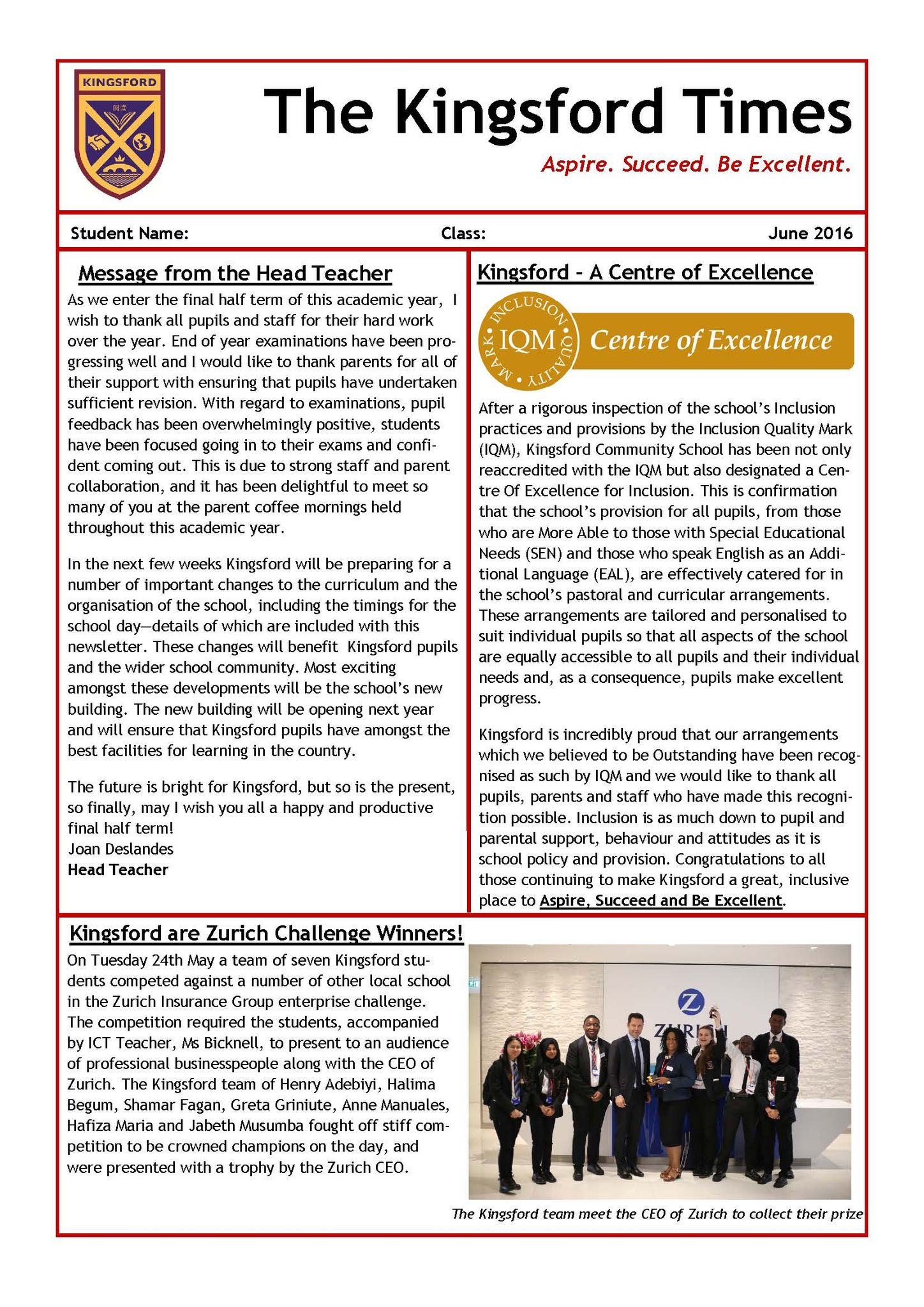 Summer Newsletter FINAL   June 2016 Page 1