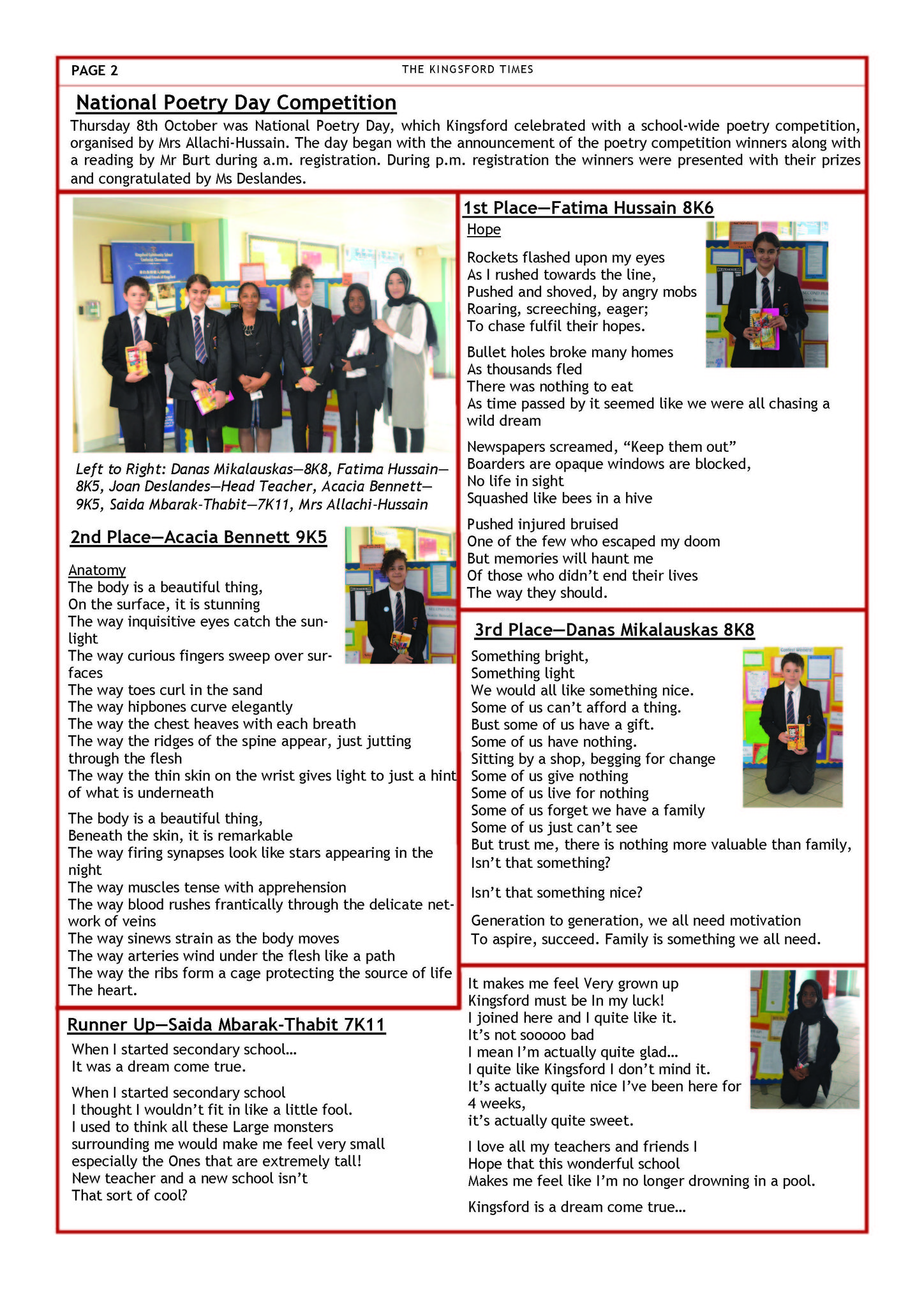 Autumn Term Newsletter Page 2
