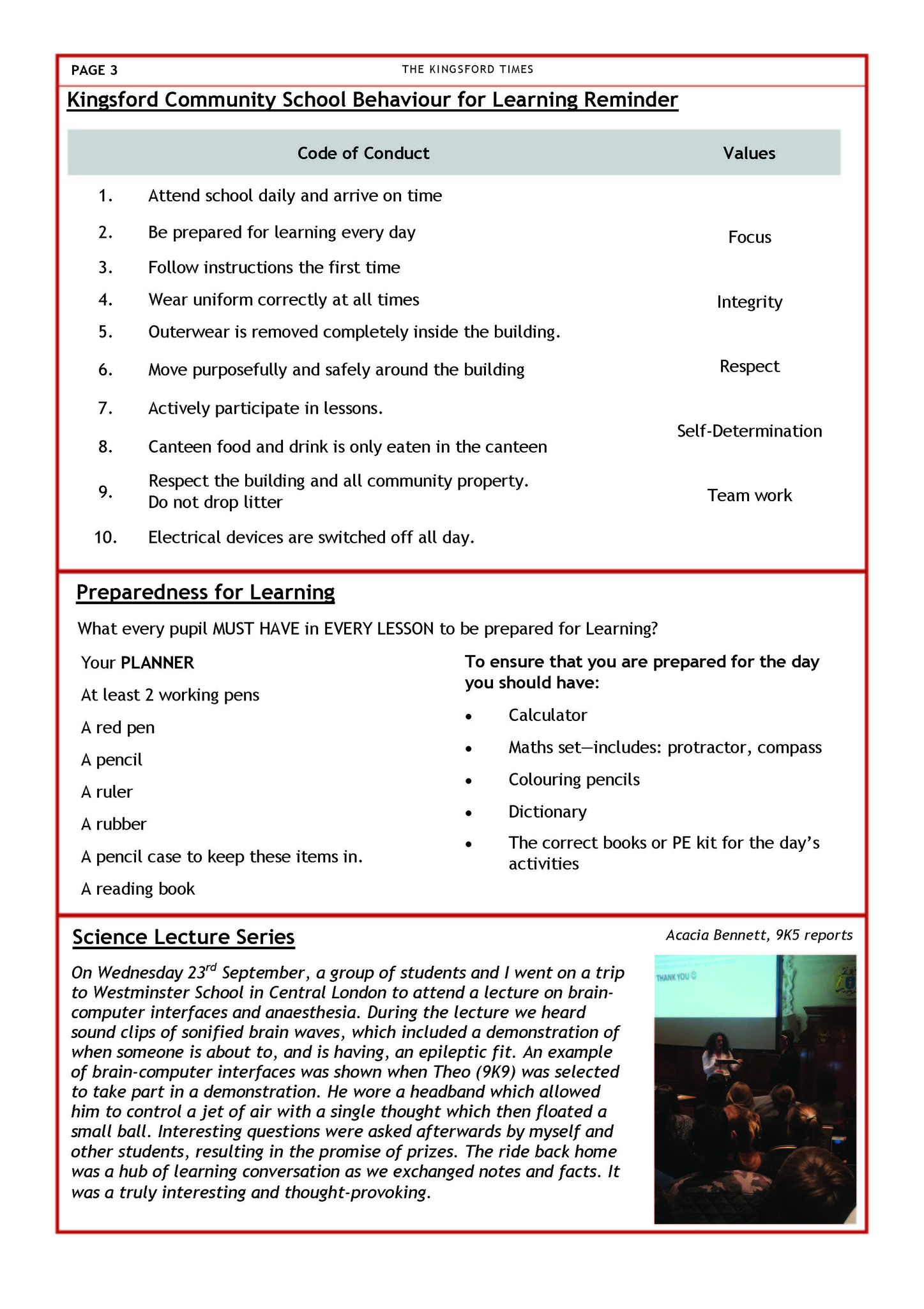 Autumn Term Newsletter Page 3