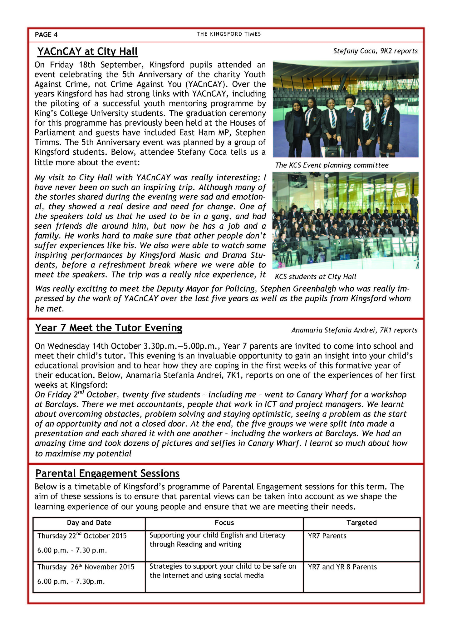 Autumn Term Newsletter Page 4