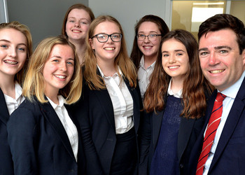 Andy Burnham Addresses Loreto Grammar School