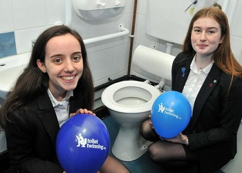 Toilet Twinning: Charity Representatives at Loreto want to make sure children in the developing world have the same access to toilets as they do at their own school.