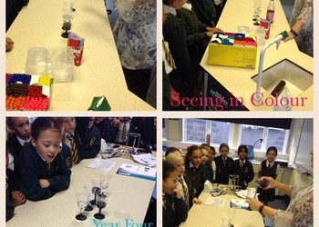 St. Kentigern's Year Four girls visit Loreto Grammar school  to be scientists!