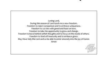 Prayer card for Lent