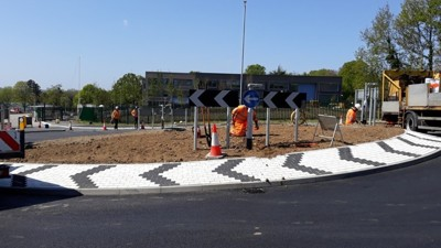 Roundabout nears completion