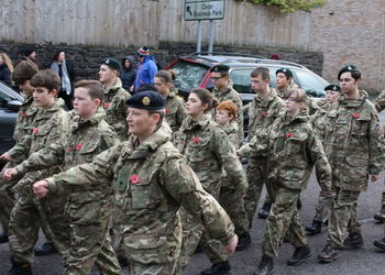 Merchants' CCF attend the local Remembrance Parade