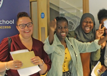 Students and Staff from Meridian High celebrate GCSE results