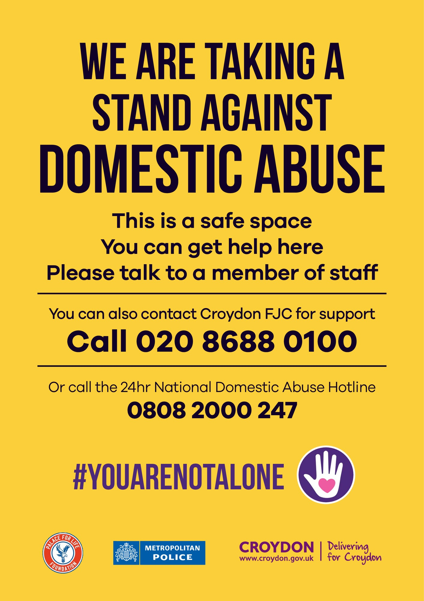 School Safe Space Domestic Abuse Poster