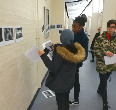Learning French in the corridor