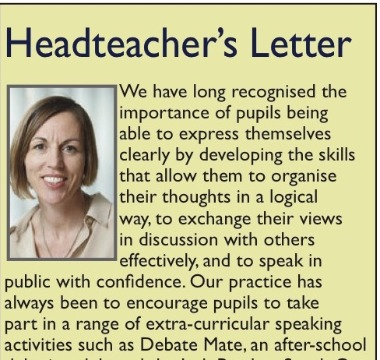 Read latest Headteacher's Letter in Morpeth News