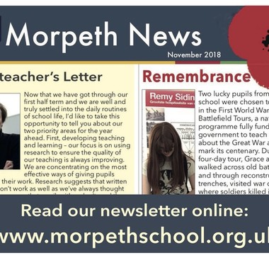 Headteacher outlines Morpeth priorities