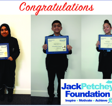 Announcing Jack Petchey Award Winners