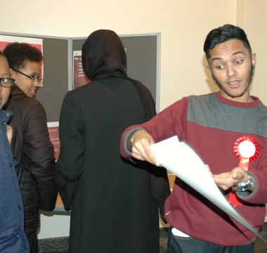 Pupils get to grips with voting