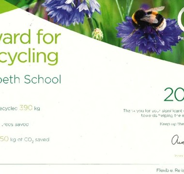 Recycling recognition for Morpeth School