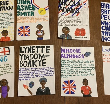 Inspirational entries to  Black History Month competition