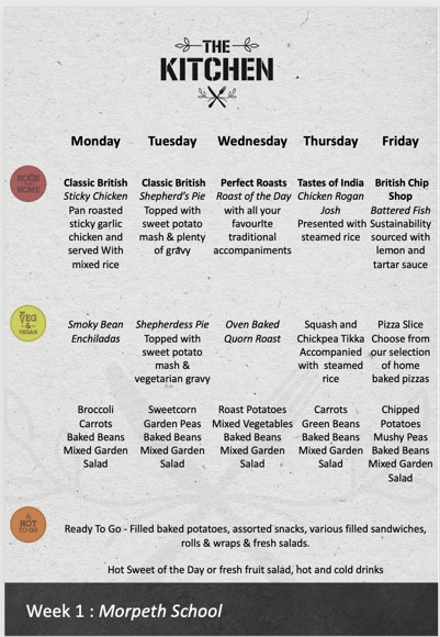LUNCH MENU WK 1