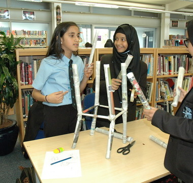 PUPILS STEAM AHEAD IN TALL TOWERS CHALLENGE