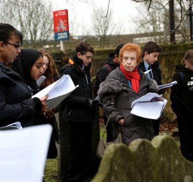 Pupils lead Holocaust memorial service