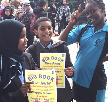 CROWDS FLOCK TO THE BIG BOOK GIVE AWAY