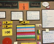 Maths learning wall img 0071