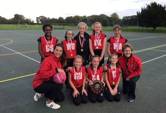 Girls Celebrate U11 Netball Tournament Win