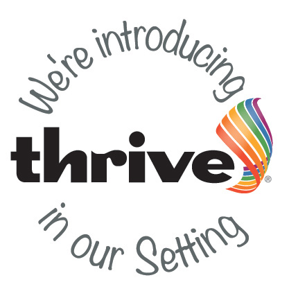 Thrive logo introducing