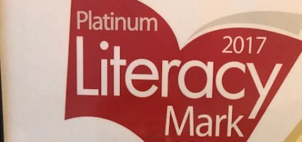 Spires Academy awarded the prestigious Platinum literacy Award